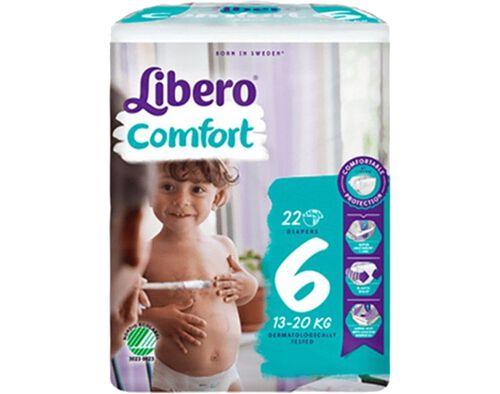 FRALDAS LIBERO COMFORT T6 13-20KG 22UN image number 0