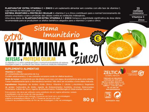 SUPLEMENTO PLANTANATUR VITAMINA C + ZINCO EFERVESCENTE 20 COMP image number 1