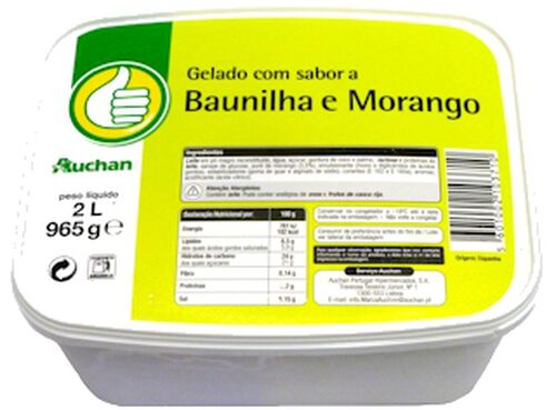 GELADO POLEGAR BAUNILHA/MORANGO 2L image number 0