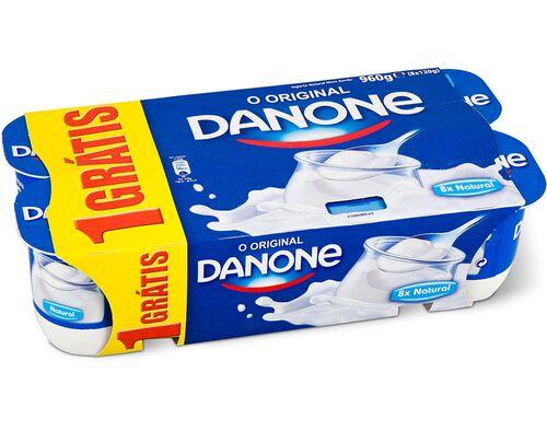 IOGURTE AROMA DANONE NATURAL 8X120G image number 0