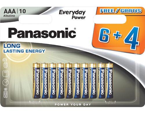 PILHAS LR03 PANASONIC EVERYDAY POWER BL.6+4 image number 0