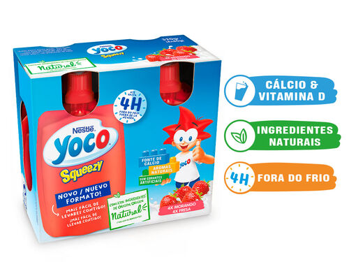 INFANTIL YOCO SQUEZZY MORANGO 4X80 G image number 0