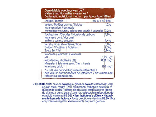 BEBIDA ALPRO SOJA CHOCOLATE LIGHT 3X250ML image number 1