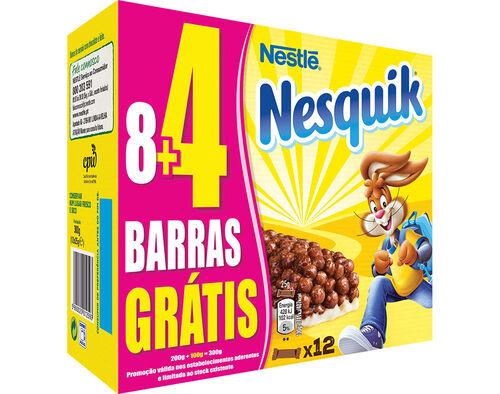 BARRAS NESQUIK CEREAIS 300G 8UN + 4UN image number 0