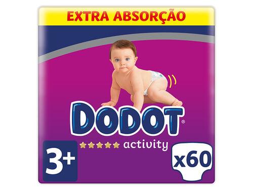 FRALDAS DODOT ACTIVITY EXTRA T3 7-11KG 60 UN image number 0