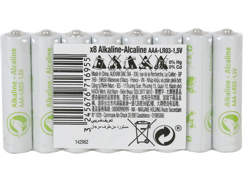 PILHAS AAA AUCHAN ESSENCIAL ALCALINAS AAS 8 PCS image number 0