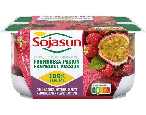SOJAGURTE SOJASUN FRAMBOESA E MARACUJAÁ 4X100G image number 0