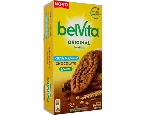BOLACHA BELVITA PLAIN CHOCOLATE LOW SUGAR 300G image number 0