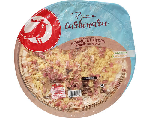 PIZZA CARBONARA AUCHAN 400G image number 0