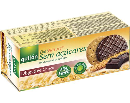 BOLACHA GULLON DIGESTIVE CHOCOLATE DIET NATURE 270G image number 0