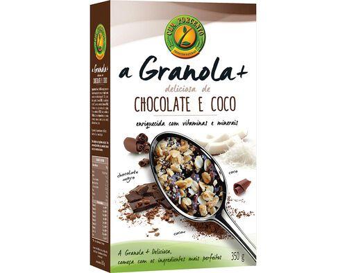 GRANOLA CEM PORCENTO CHOCOLATE E CÔCO 350G image number 0
