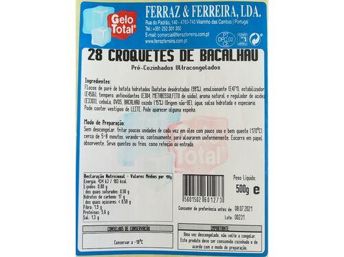 CROQUETES GELO TOTAL BACALHAU SD 28 UN 500 G image number 1