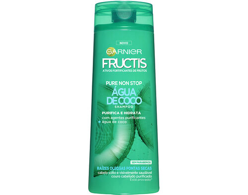 CHAMPÔ FRUCTIS NSTOP PURE ÁGUA COCO 250ML image number 0