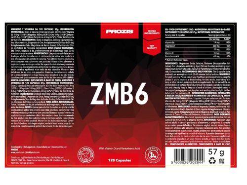SUPLEMENTO PROZIS ZMB6 120 CAPS image number 1