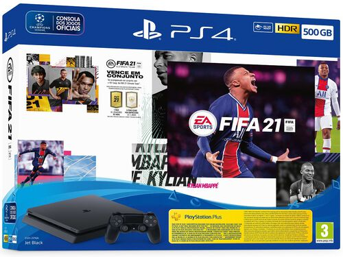 CONSOLA PS4 500GB + FIFA 21 image number 1