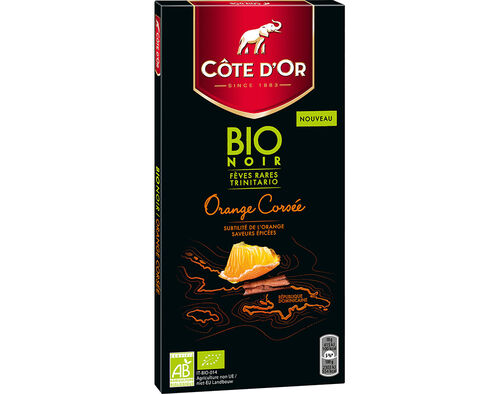 CHOCOLATE CÔTE DÒR BIO NOIR LARANJA E CANELA 90G image number 0