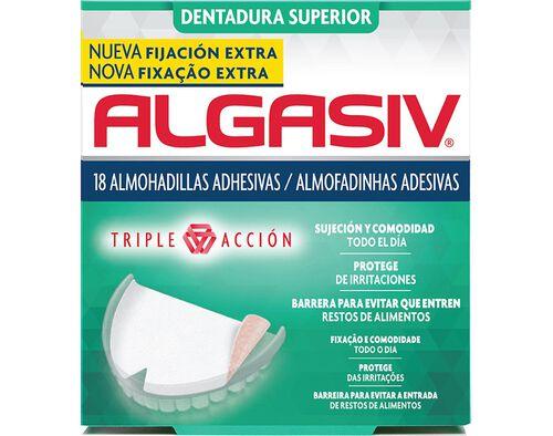 ALMOFADAS ADESIVAS ALGASIV PROTESE SUPERIOR 18UN image number 0