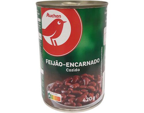 FEIJÃO ENCARNADO AUCHAN COZIDO 420 G image number 0