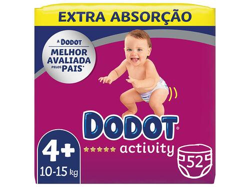 FRALDAS DODOT ACTIVITY EXTRA TAMANHO 4 DE 10 A 15KG 52UN image number 0