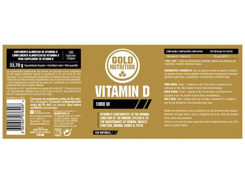 SUPLEMENTO GOLDNUTRITION VITAMINA D 120 CAPS SOFTGEL image number 1