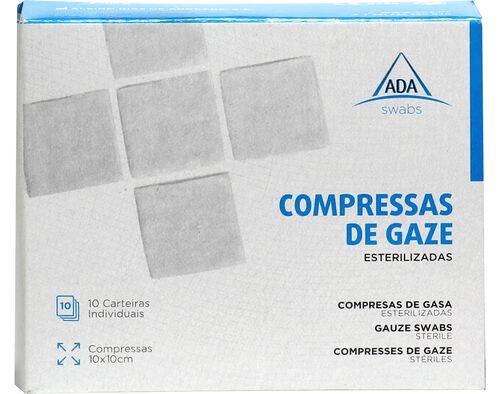 COMPRESSA ADA GAZE ESTERILIZADA 10X10 10UN image number 0