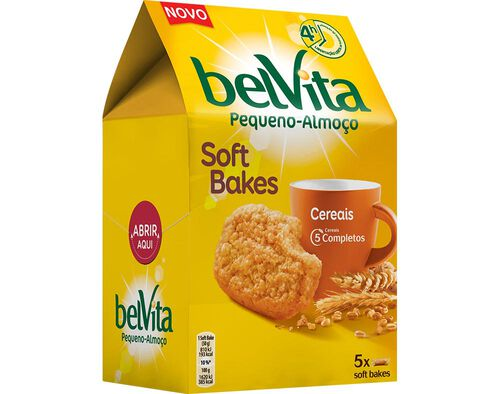 BOLACHA BELVITA SOFT BAKES CEREAIS 250G image number 0