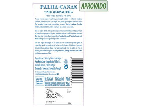 VINHO TINTO PALHA CANAS LISBOA 0.75 L image number 1