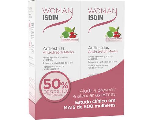 CREME ISDIN WOMAN ANTIESTRIA 2X250ML 50%2U image number 0