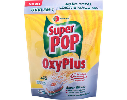 DET.MÁQUINA LOIÇA SUPER POP OXYPLUS 45 DOSES image number 0