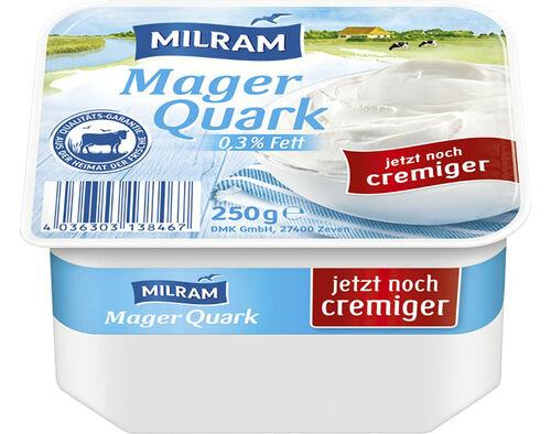 QUARK MILRAM NATURAL 0.3% GORDURA 250G image number 0