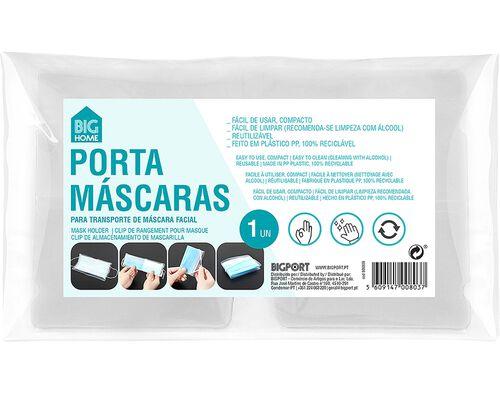 PORTA MÁSCARA BIGHOME TRANSPARENTE image number 0