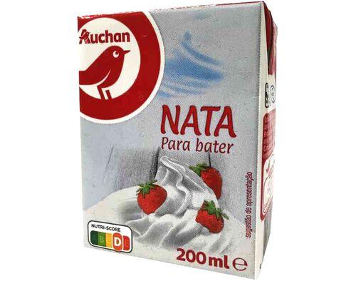 NATA AUCHAN UHT PARA BATER 200ML image number 0