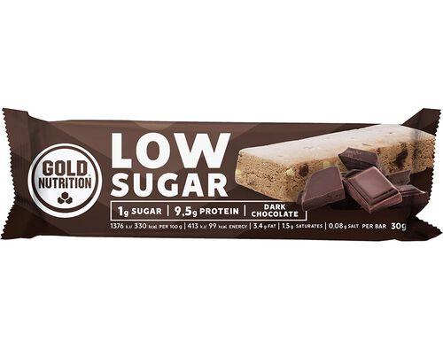 BARRA GOLDNUTRITION LOW SUGAR CHOCOLATE NEGRO 30G image number 0