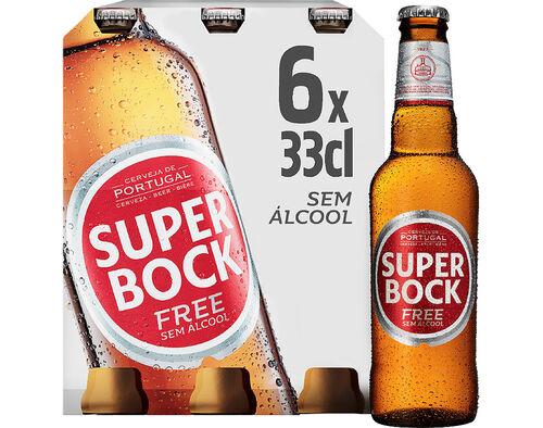 CERVEJA SUPER BOCK SEM ÁLCOOL 6X0.33L image number 0