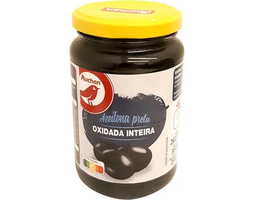 AZEITONAS AUCHAN PRETA INTEIRA OXIDADA 261/290 350G image number 0