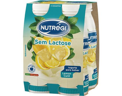 IOGURTE S/ LACTOSE NUTRÉGI LÍQ. LEMON CURD 4X170G image number 0