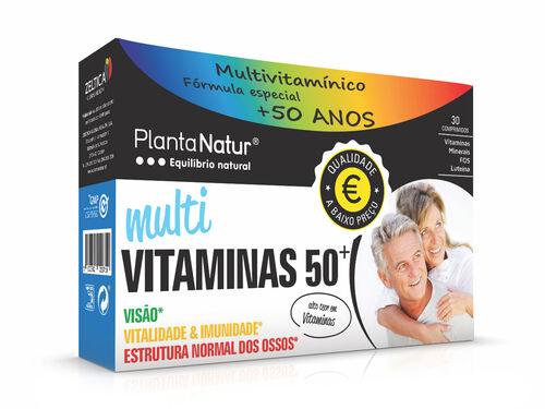 SUPLEMENTO PLANTANATUR MULTIVITAMINAS 50+ 30 COMP image number 0