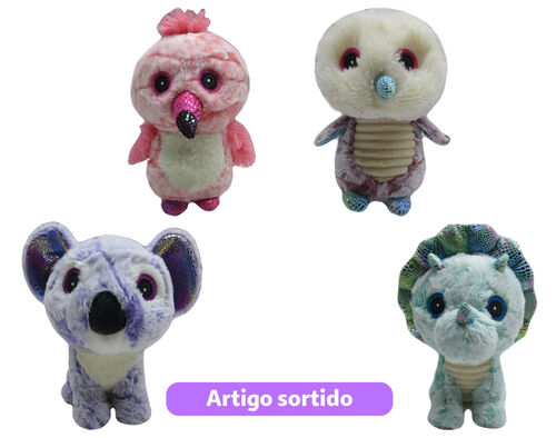 ANIMAL PELUCHE ONE TWO FUN OLHOS GRANDES 24 CM image number 0