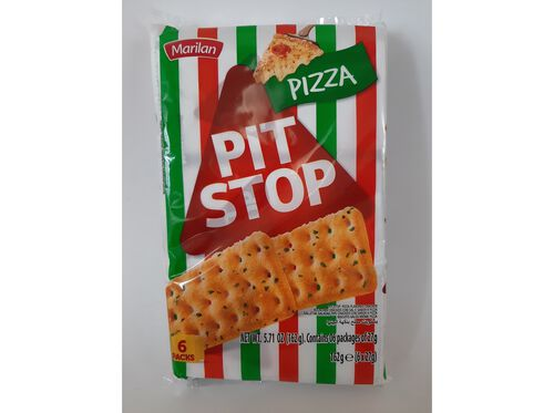 BOLACHA MARILAN PIT STOP PIZZA 162G image number 0