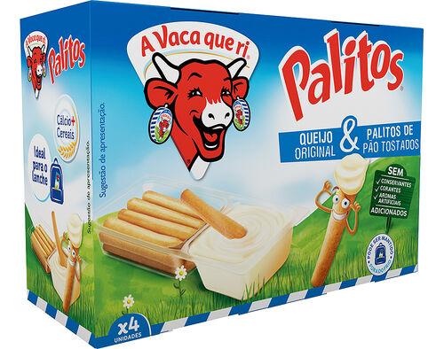 QUEIJO A VACA QUE RI PALITOS 4X35G image number 0
