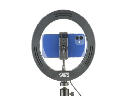 RING LIGHT CELLULARLINE COM TRIPÉ SELFIERING image number 1