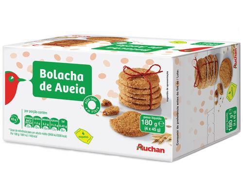 BOLACHA AUCHAN AVEIA 180G image number 0