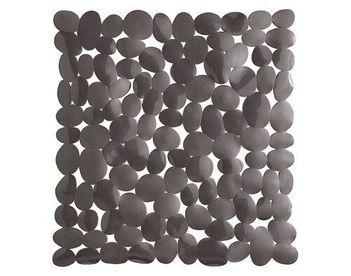 TAPETE ANTIDERRAPANTE ACTUEL PVC PEDRAS CINZENTO 52X54CM image number 1
