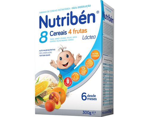 PAPA LACTEA NUTRIBEN 8 CEREAIS 4 FRUTAS 300G image number 0