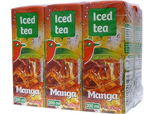 ICED TEA AUCHAN MANGA 6X200 ML image number 0