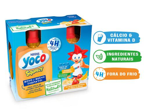 INFANTIL YOCO SQUEZZY MORANGO BANANA 4X80 G image number 0