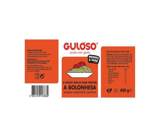 MOLHO DE TOMATE GULOSO Q.B. BOLONHESA 400G image number 1