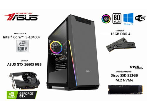 PC GAMING INSYS POWERED BY ASUS I5/16/512GB image number 1