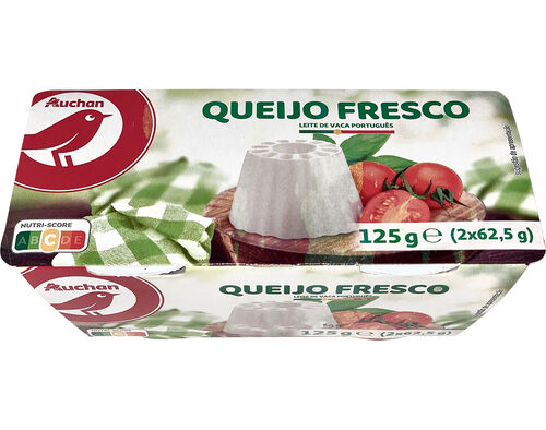 QUEIJO AUCHAN FRESCO NATURAL 2X62.5G image number 0