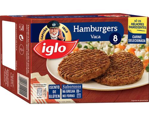 HAMBURGERS IGLO VACA S/ GLÚTEN 8 UN. 640G image number 0